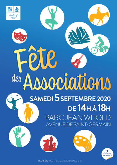 affiche de la fête des associations à Marly-le-Roi