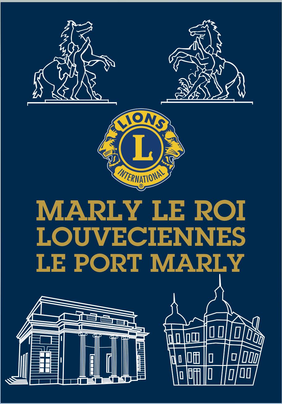 fanion du Lions Club de Louveciennes, Marly-le-Roi, Le Port-Marly