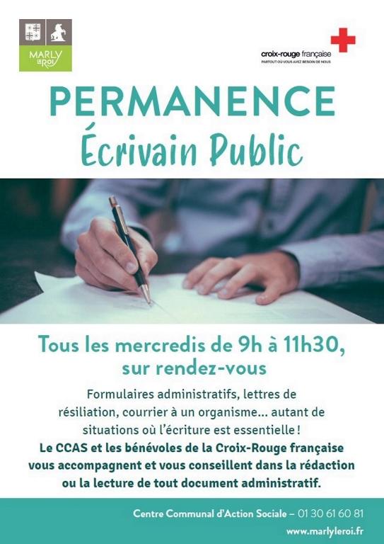 Affiche Ecrivain Public