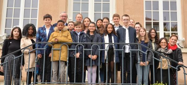 Les élus du Conseil Municipal des Jeunes de Marly-le-Roi, 2019