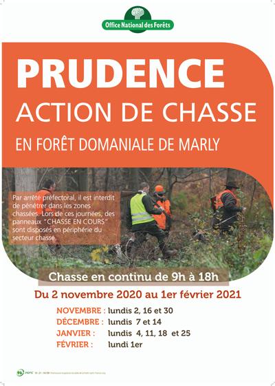 Dates des chasses en forêt de Marly