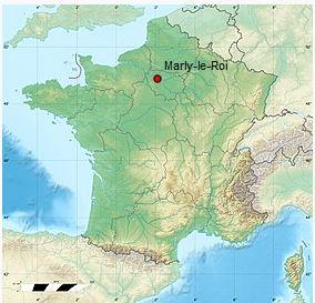 localisation de Marly-le-Roi sur la carte de France