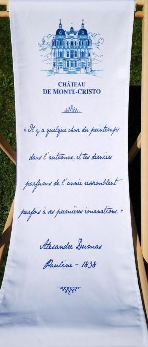 transat personnalisé avec citation d'Alexandre Dumas