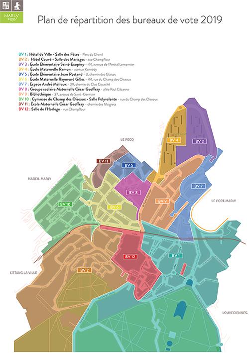 Plan de répartition des bureaux de vote 2019 Marly-le-Roi