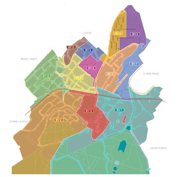 Plan de répartition des bureaux de vote Marly-le-Roi