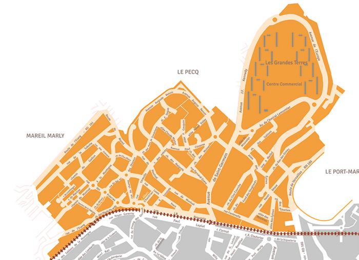 Carte du secteur nord de Marly-le-Roi