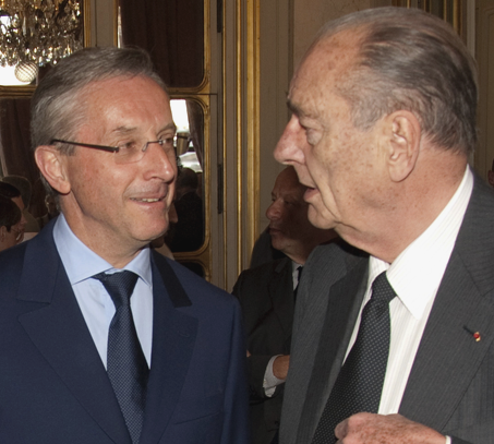 Jacques Chirac et Jean-Yves Perrot