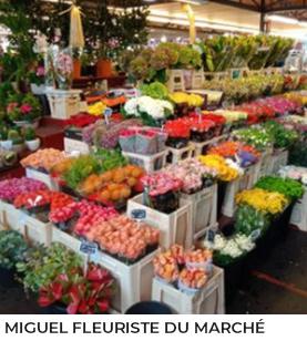 Miguel fleuriste du marché