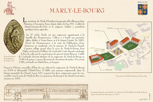 pupitre Marly-le-Bourg © Ville de Marly-le-Roi