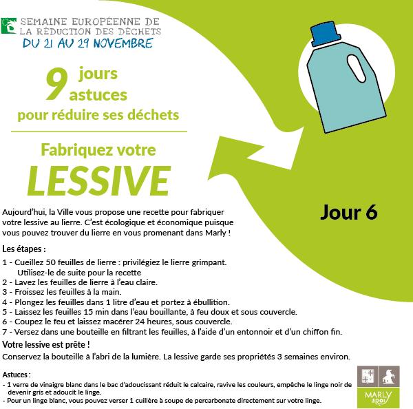 Semaine européenne de la réduction des déchets. Jour 6 : fabriquez votre lessive