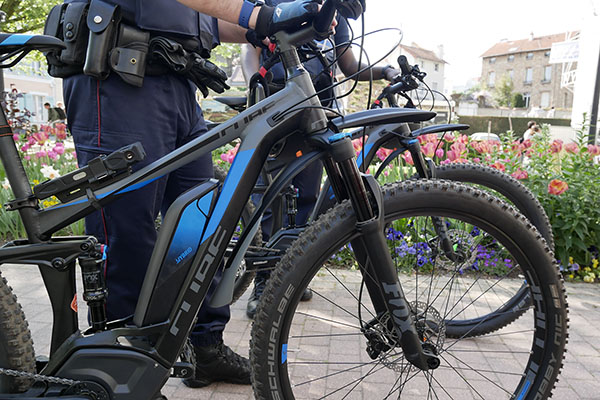 vélos électriques de la police municipale