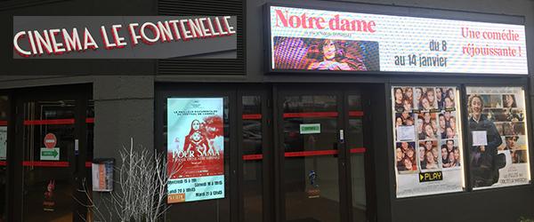 Enseigne du cinéma Le Fontenelle