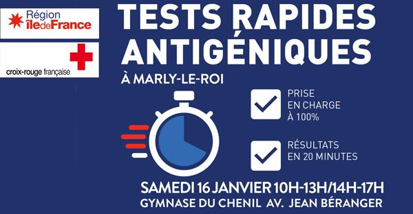 tests rapides antigéniques le 16 janvier 2021