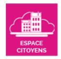 Bouton Espace Citoyens