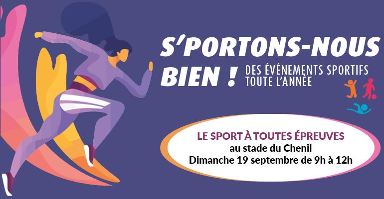 """Venez participer à l'événement """"Le sport à toutes épreuves"""""""