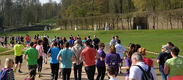 Course solidaire dans le parc de Marly-le-Roi